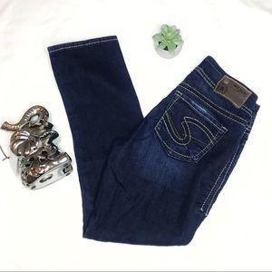 Silver Dark Western Glove Work Jeans